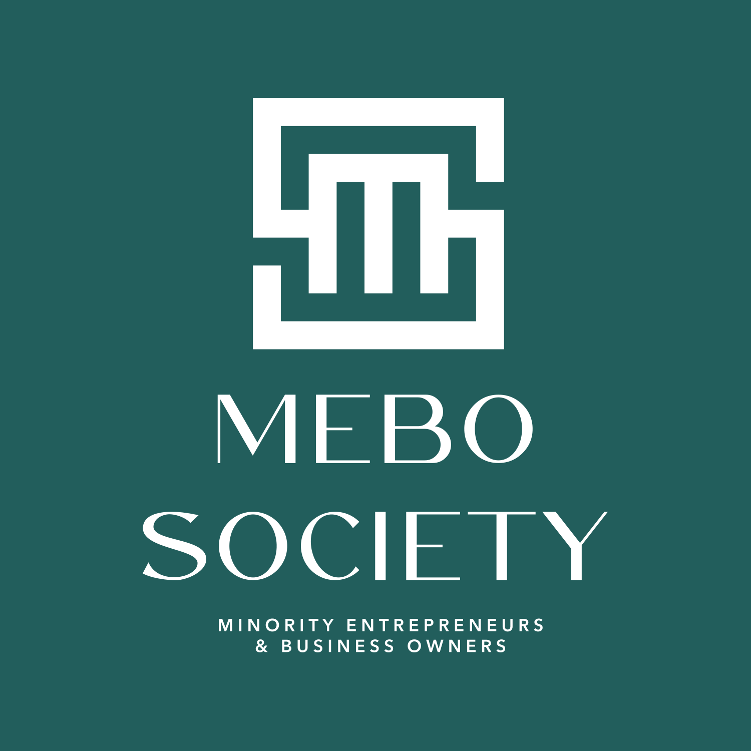 MEBO Society - Minority Entrepreneurs & Business Owners - www.mebosociety.com - Green /White Logo